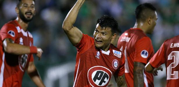 Walter Bou marcou para o Unión La Calera, que garantiu a vaga em Chapecó - Diego Vara/Reuters