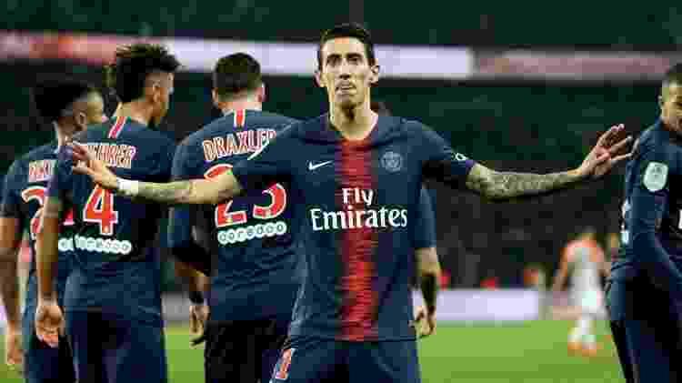 Di Maria comemora gol do PSG sobre o Montpellier - Xavier Laine/Getty Images - Xavier Laine/Getty Images