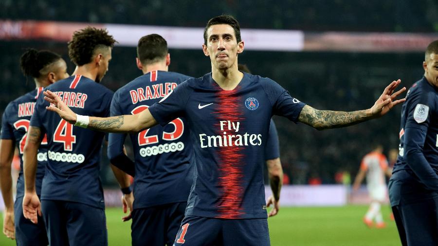 Di Maria comemora gol do PSG sobre o Montpellier - Xavier Laine/Getty Images