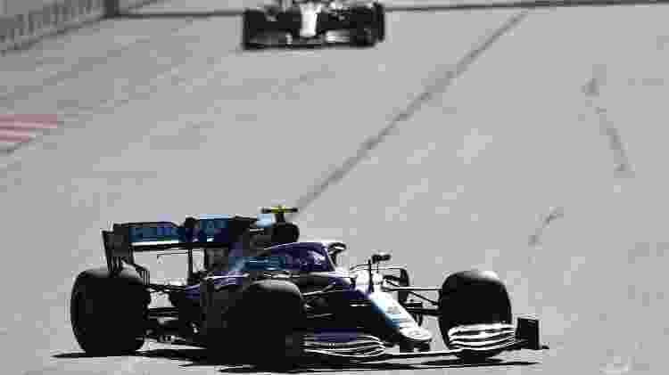 Valtteri Bottas, piloto da Mercedes de F1, em Baku no GP do Azerbaijão - Alexander Nemenov/AFP - Alexander Nemenov/AFP