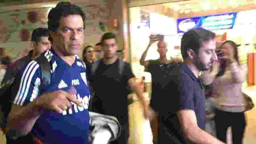 Raí desembarcou em Congonhas após eliminação do São Paulo na Copa do Brasil - José Eduardo Martins/UOL Esporte