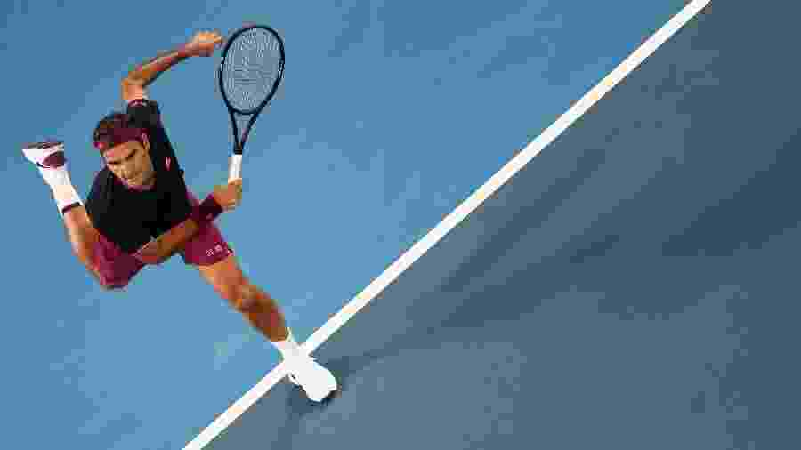 Roger Federer na segunda rodada do Australian Open 2020 - Reuters