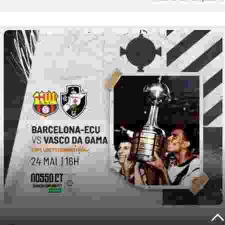 """Vasco criou """"ingresso virtual"""" para transmissão da final da Libertadores de 98: objetivo é ajudar obras do CT - Reprodução / Sócio Gigante"""