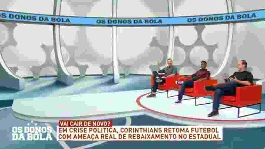 Neto abandona o Os Donos da Bola - Reprodução/Bandeirantes