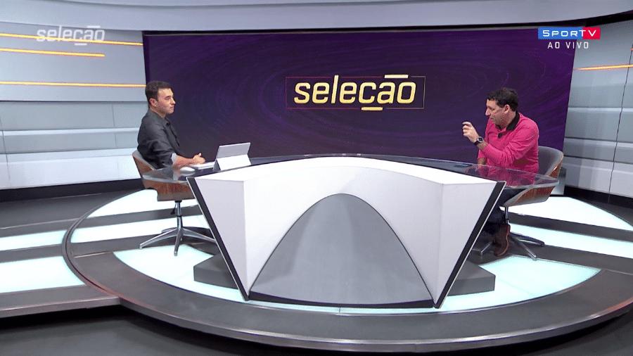 Rizek e PVC exaltaram duelo entre Inter x Flamengo - Reprodução/SporTV