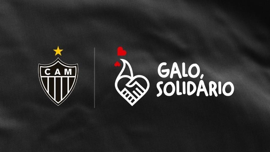 Instituto Galo, em parceria com o Atlético-MG, encampa ação solidária para doação de cestas básicas - Divulgação/Atlético-MG