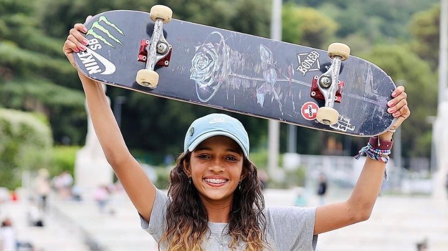 Rayssa Leal no Mundial de Skate Street em Roma - Reprodução
