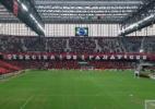 Torcida do Atlético-PR prepara mosaicos para duelo com Fla; veja imagens