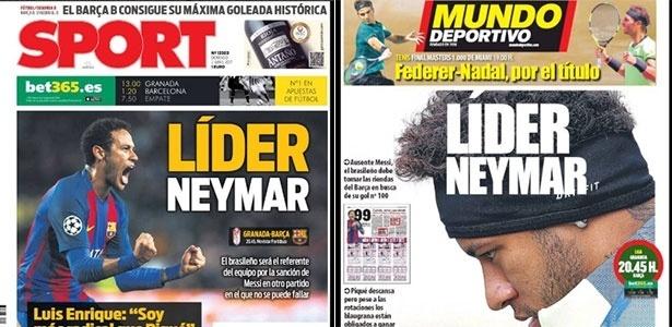 Neymar vira líder em jornais espanhóis
