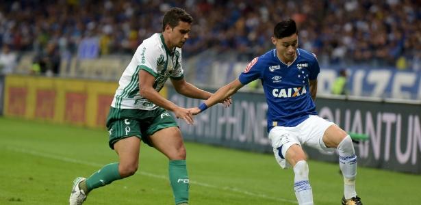 Diogo Barbosa, hoje no Palmeiras, fez o gol decisivo que classificou o Cruzeiro em 2017