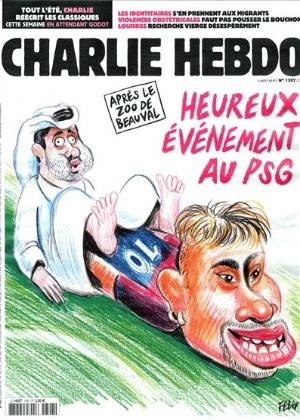 Neymar em charge de Charlie Hebdo