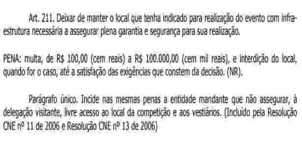 Artigo 211 do CBJD - Reprodução - Reprodução