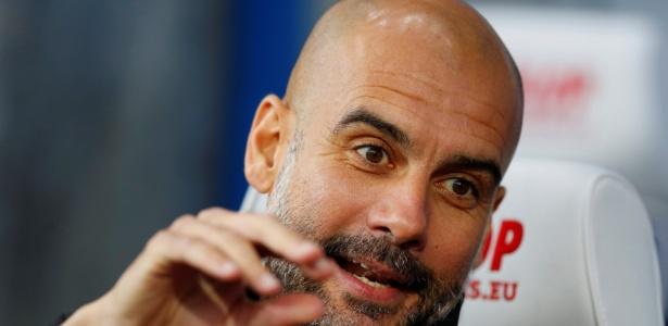 O espanhol Pep Guardiola, técnico do Manchester City