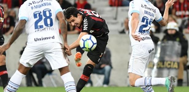 Pablo marcou golaço contra o Grêmio: confiança resgatada - Miguel Locatelli/Atlético-PR