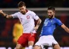 Jorginho corrige erro com gol e faz Itália empatar com Polônia em estreia - MARCO BERTORELLO / AFP