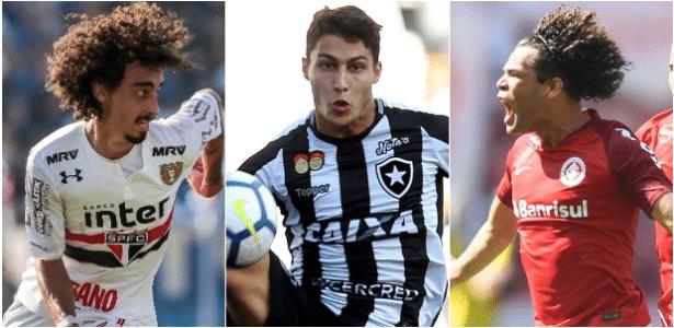 Botafogo e Inter conversam para tentar negociação envolvendo Valdívia, Marcinho e Camilo - Montagem/UOL
