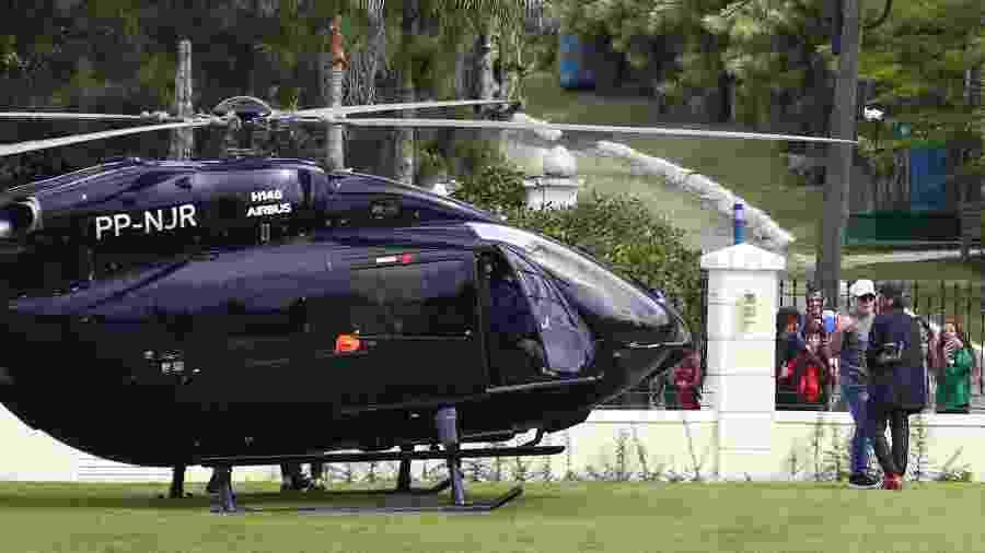 Neymar chegou à Granja Comary em seu helicóptero particular - Pilar Olivares/EFE