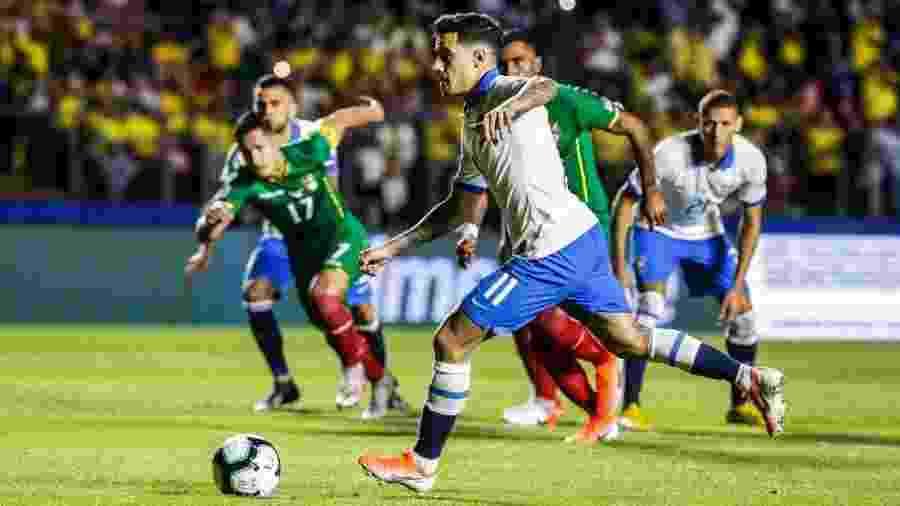 Partida Brasil 3 x 0 Bolívia na abertura da Copa América foi a que mais atraiu interesse do público até aqui - Lucas Lima/UOL