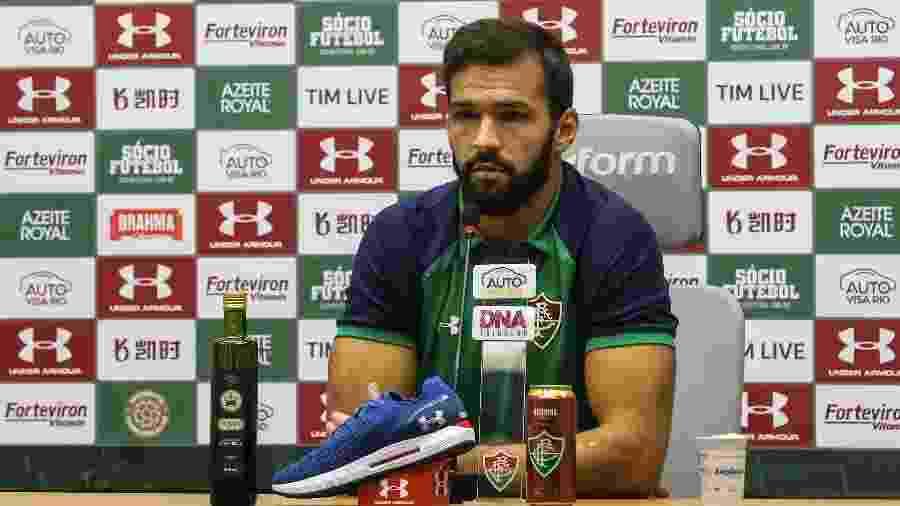 """Muriel defendeu Oswaldo de críticas e afirmou que elenco do Flu está """"fechado"""" com o técnico - Lucas Merçon/Fluminense FC"""