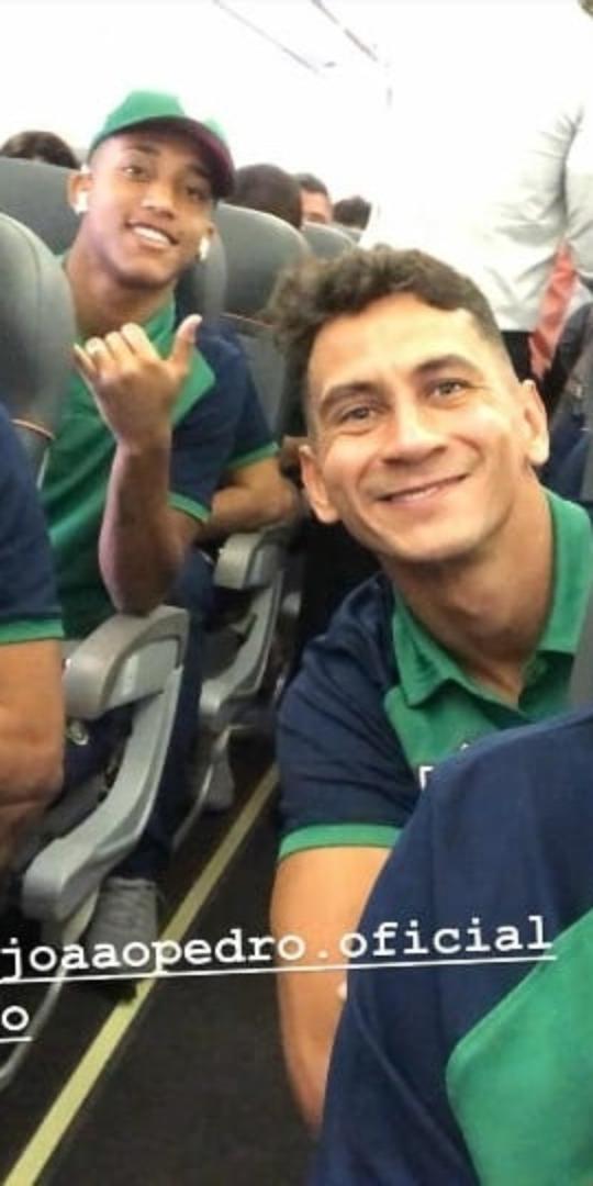 Nino postou foto em que Ganso e João Pedro aparecem em clima de tranquilidade