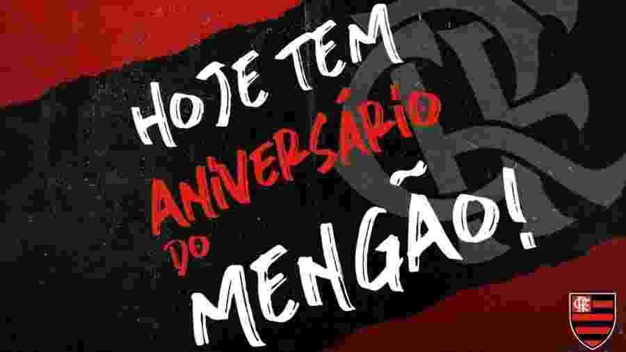 Flamengo comemorou a data em seu perfil oficial do Twitter - Reprodução/Twitter