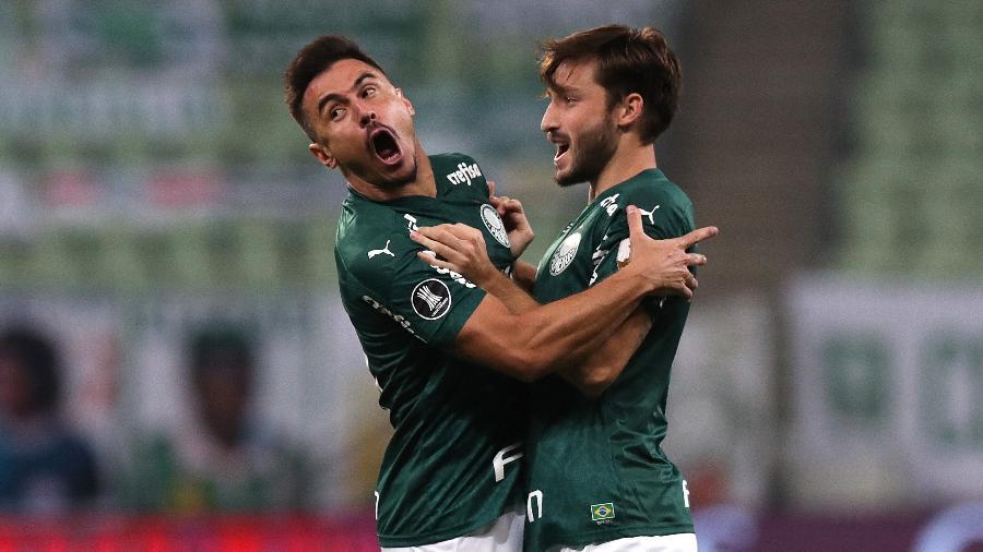 Willian comemora gol marcado pelo Palmeiras contra o Bolívar (BOL) em jogo da Libertadores 2020 - Amanda Perobelli - Pool/Getty Images