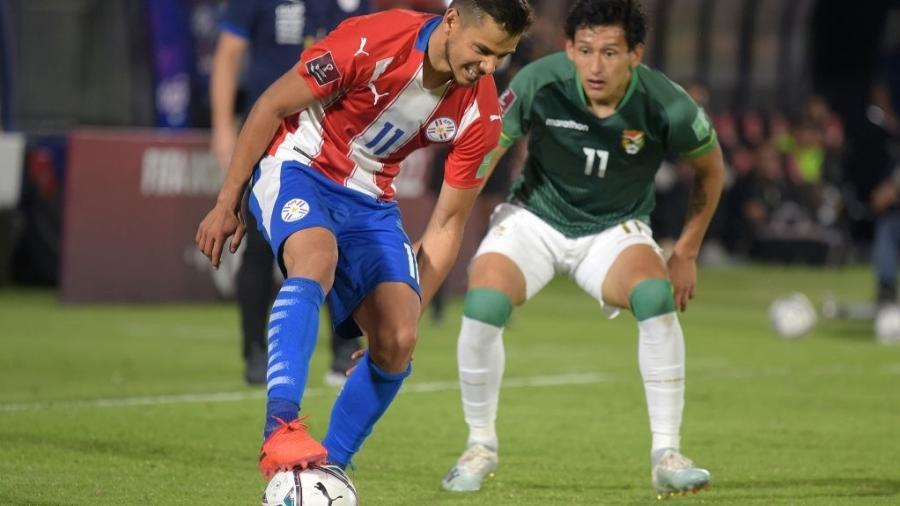Paraguai e Bolívia empatam por 2 a 2 pelas Eliminatórias para a Copa do Mundo de 2022 - Christian Alvarenga/Getty Images