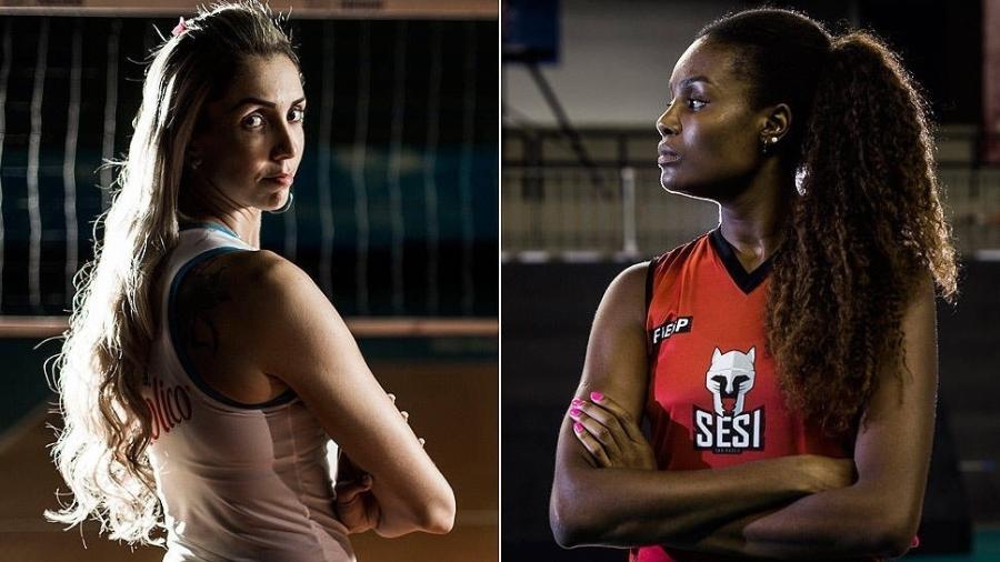 Thaísa e Fabiana em pose para a Folha de São Paulo: contratadas pela Globo para os Jogos Olímpicos de Tóquio - Adriano Vizoni/David Ribeiro/Folhapress