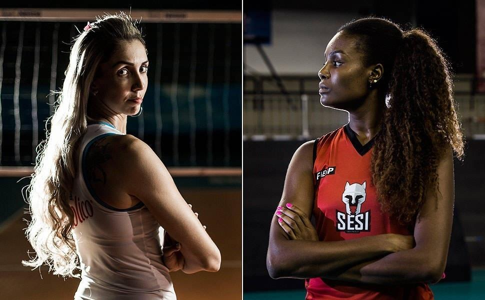Thaísa e Fabiana em pose para a Folha de São Paulo: contratadas pela Globo para os Jogos Olímpicos de Tóquio