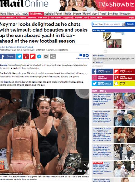 ney - Reprodução/ Daily Mail - Reprodução/ Daily Mail
