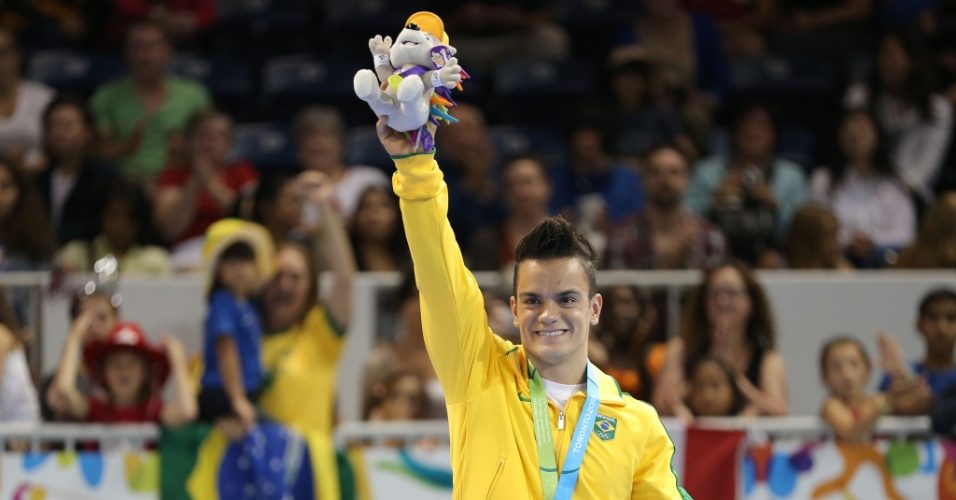 O brasileiro Caio Souza da ginástica artística