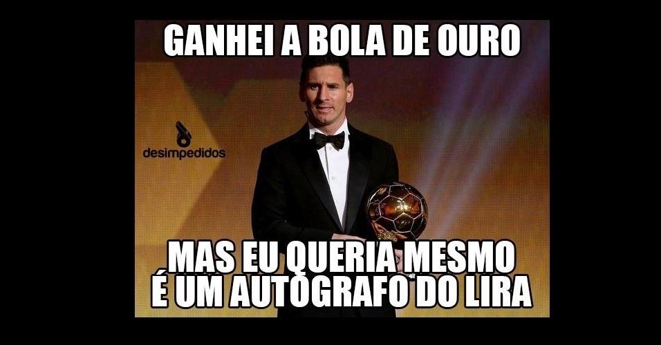 Os memes da festa do prêmio Bola de Ouro