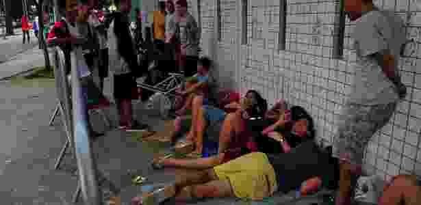 Torcedores do Flamengo chegaram a dormir na fila das bilheterias do Maracanã  - Ilan Pellenberg/FramePhoto