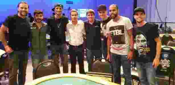 Vitor Hugo, Moisés, Alecsandro e Rodrigo participam de campeonato de celebridades de pôquer - Divulgação - Divulgação