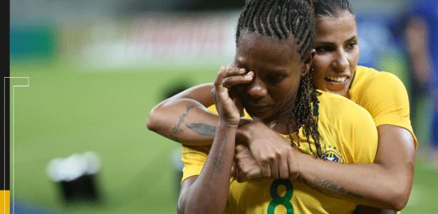 Formiga se emociona depois de jogo da seleção brasileira feminina