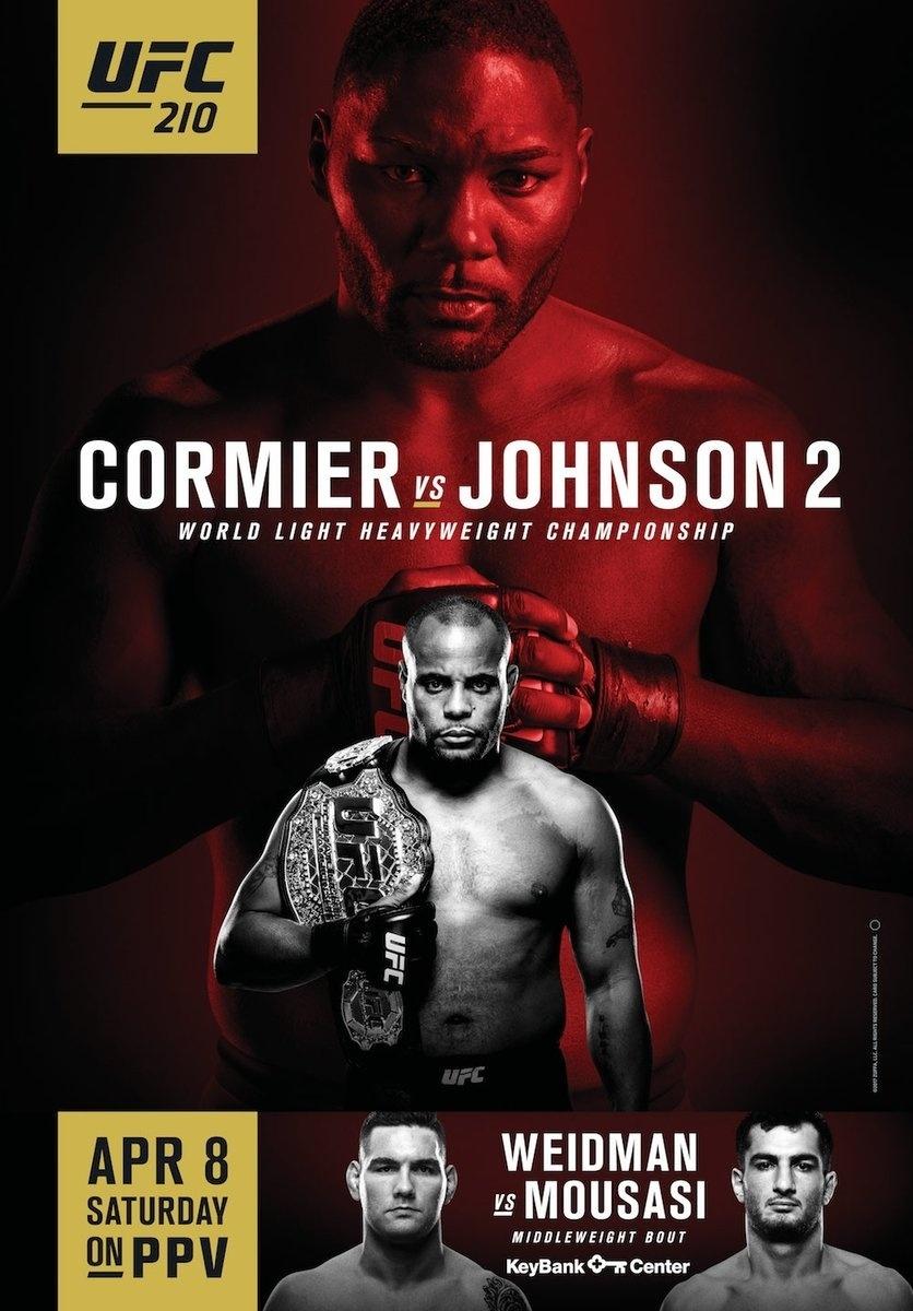 Pôster oficial do UFC 210