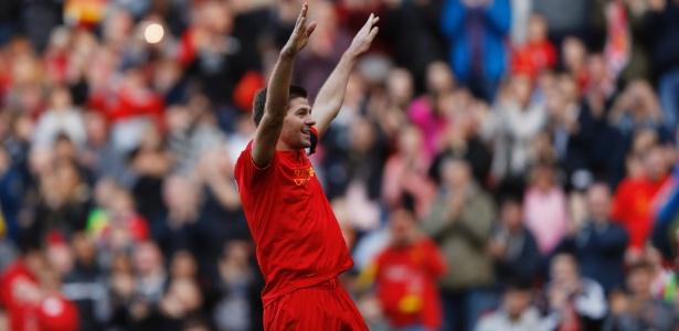 Steven Gerrard é um dos maiores ídolos da história do Liverpool