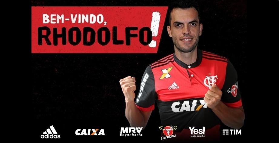 O Flamengo confirmou a contratação do zagueiro Rhodolfo na noite deste domingo (11)