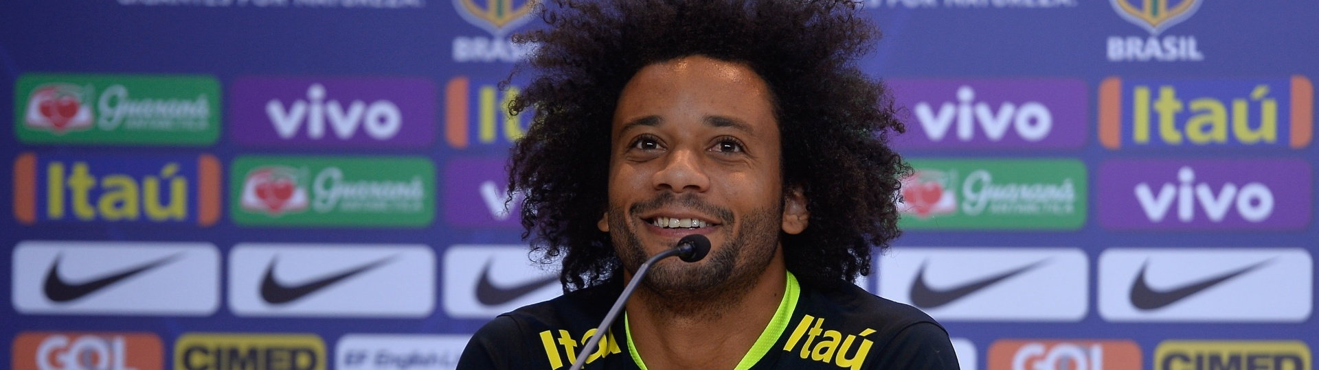 Marcelo, durante entrevista coletiva pela seleção brasileira