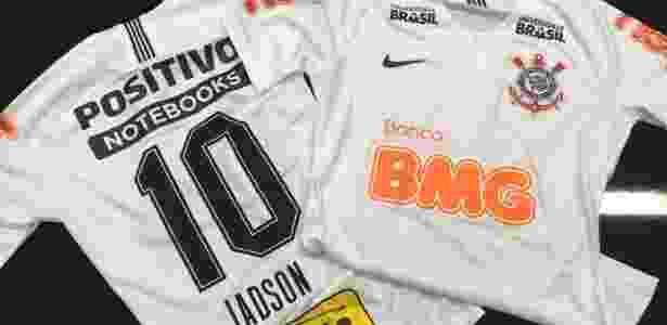 Corinthians estreia uniforme com três novas marcas na camisa  veja ... b335c82013371