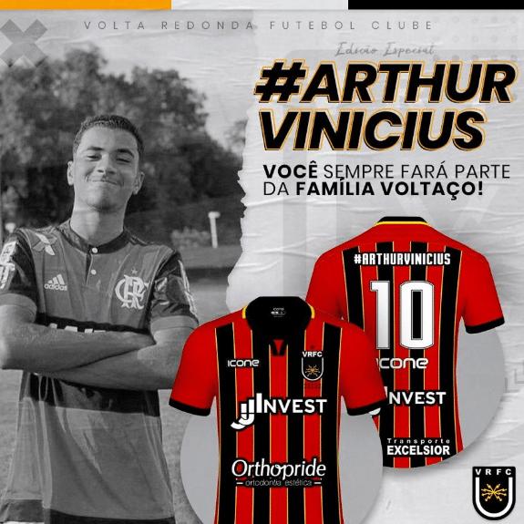 Volta Redonda homenageará Arthur Vinicíus, vítima da tragédia no CT do Ninho do Urubu