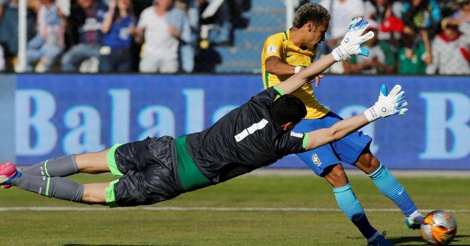 Carlos Lampe defesa Neymar Brasil eliminatórias