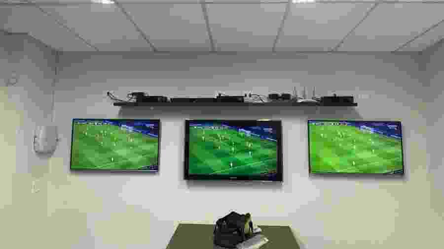 Sala do setor de Análise de Desempenho foi ampliada de modernizada no Santos - Reprodução