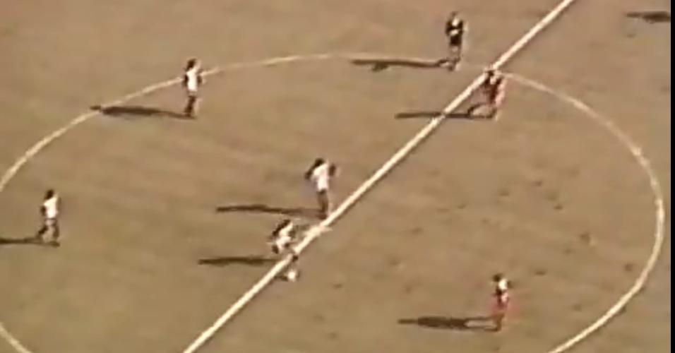Imagem aérea panorâmica da TV na final de 81