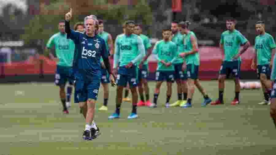 Jorge Jesus terá de fazer mudanças no time para a final da Recopa Sul-Americana por conta de lesões - Alexandre Vidal/Flamengo