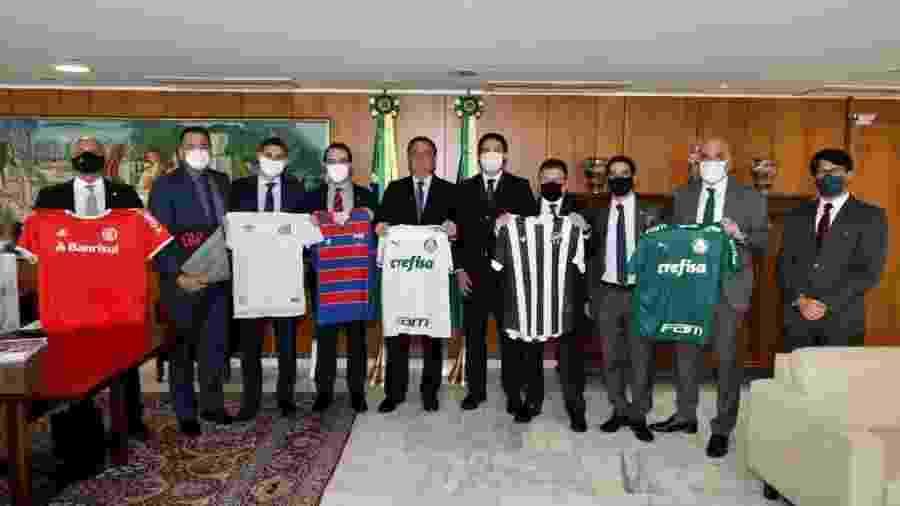 Presidente da República recebeu, na semana passada, dirigentes de clubes que têm contrato com a Turner - Reprodução