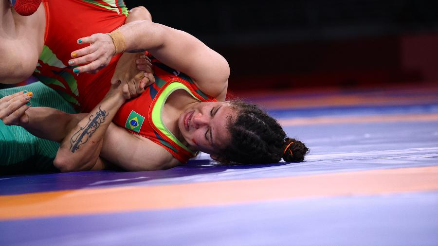 A brasileira Laís Nunes perdeu para a búlgara Taybe Yusein na luta olímpica estilo livre - REUTERS/Leah Millis