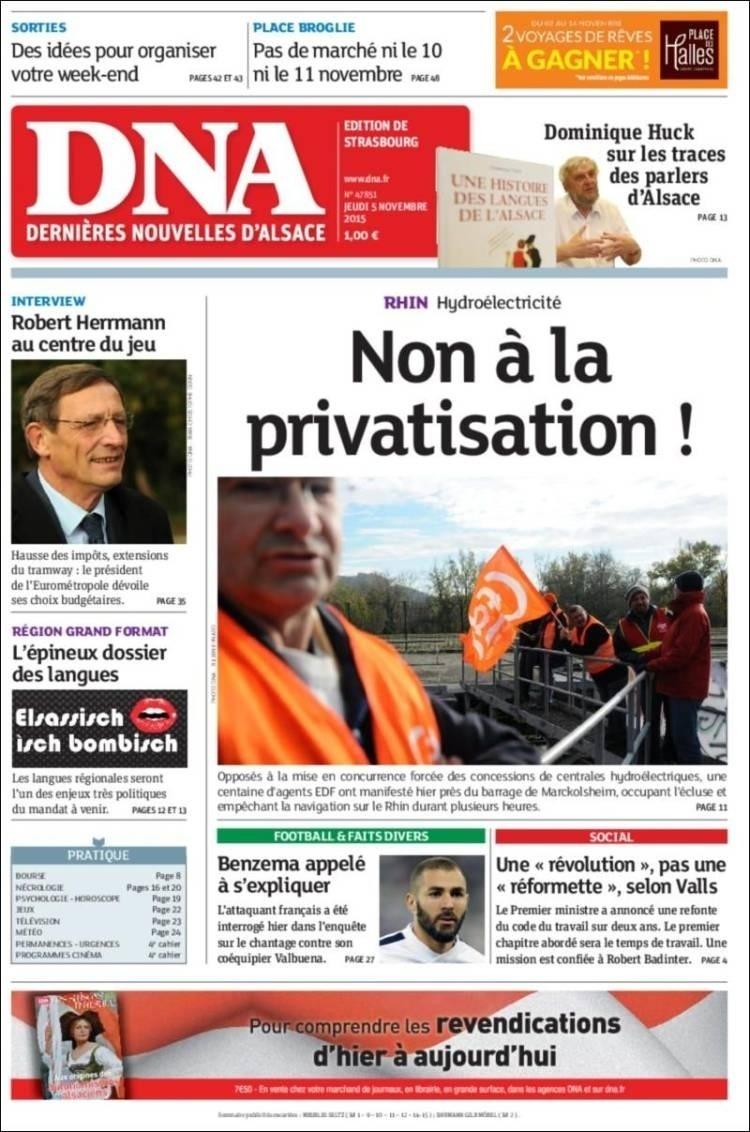Dernières Nouvelles d?Alsace (Estrasburgo, França):