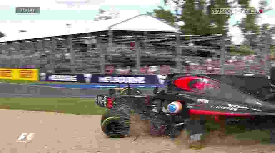 Alonso bate forte no GP da Austrália - Reprodução