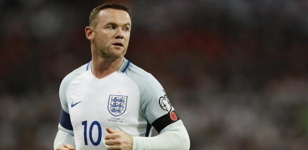 A última vez que Rooney atuou pela Inglaterra foi em novembro de 2016